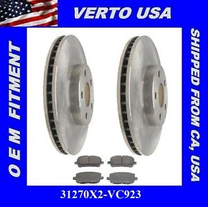 Front Rotors Pads For Toyota Corolla Vibe Matrix 03 04 2005 2006 2007 2008