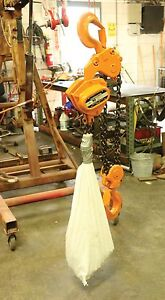 Used Harrington Cb100 Chain Hoist 10 Ton 20 Lift