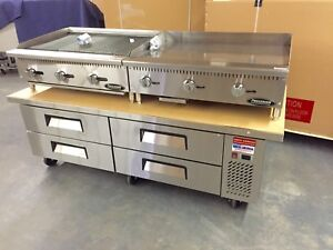 Chef Base 72 Refrigerated Stand Equipment Table 2 Drawer Package Grill