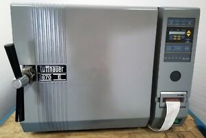 Tuttnauer 3870e Automatic Autoclave Steam Sterilizer W Printer
