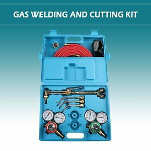 Gas Welding Cutting Kit Portable Acetylene Oxygen Torch Set Welder Heavy Duty