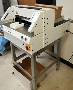 Yul Programmable Paper Cutter Epc017 17 1 8 435 Mm Used Electric Guillotine