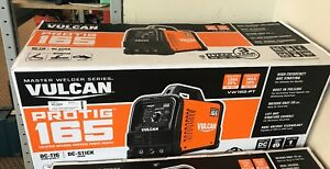 New Vulcan Master Welder Series Protig 165 Tig Stick Inverter Vw165 pt Yy07