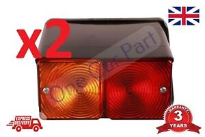 Pair Rear Light Lamps Fits Ford 2610 3610 4000 4610 5000 5600 7700 550 Digger