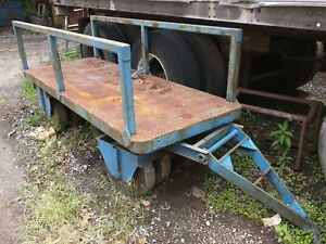 Super Heavy Duty 8 Wheel Pull Cart Trailer