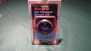 New Sunpro 2 Oil Pressure Gauge Kit Black Aluminum Bezel Cp7982