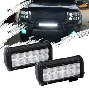 Universal 7 In 36w Cree Led Work Light Bar Spot Driving Fog Lamp Offroad 4wd Ute