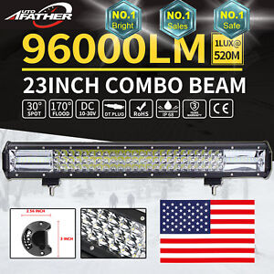 10d 23 Cree Led Light Bar Spot Flood Combo For Jeep Off Road 12v Vs 24 21 20