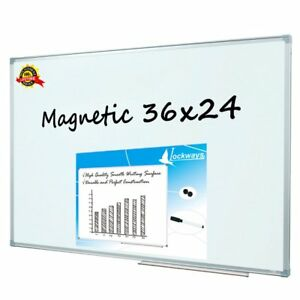 Lockways Magnetic Dry Erase Board Magnetic Whiteboard white Board 36 X 24