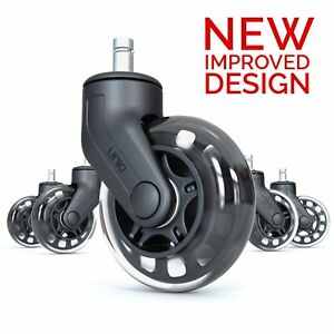 Office Chair Caster Wheels Perfect Replacement For Desk Floor Mat Heavy Duty