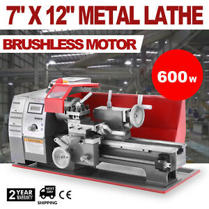 Brushless Motor Mini Metal Lathe Woodworking Tool Drilling Milling Metal Wood