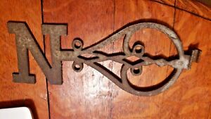 Vintage Cast Iron Weathervane Directional North Letter