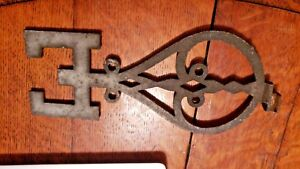 Vintage Cast Iron Weathervane Directional East Letter