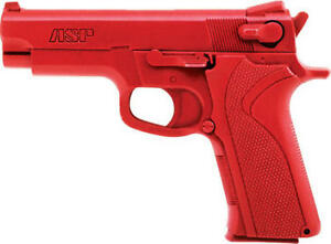 Asp Police Fake Martial Arts Karate Red Gun Training S w 10mm 45 Cal Pistol Gun