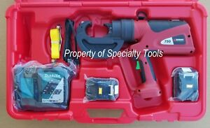 Burndy Pat750li Hydraulic Battery Rubber Covered Head Crimper Crimping Tool New