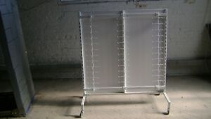 Retail White Display Hanging Small Merchandise Rack W Wheels