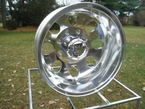 1 16x6 Ford F350 Dually Rear Wheel Ion Polished W Caps 99 04 Only