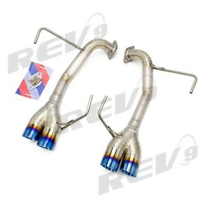 Rev9 Flowmaxx Titanium Axle Back Muffler Delete Straight Pipe For 11 14 Wrx Sti