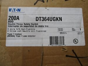 Cutler Hammer Dt364ugkn 200 Amp 3 Pole 600v Double Throw Switch New Ats308