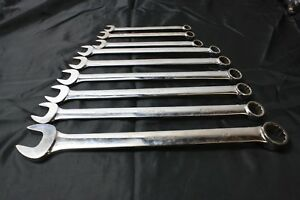 Snap On 9 Pc 12 Pt Combination Long Handle Wrench Set Oexl 1 2 1 1 4 Nice