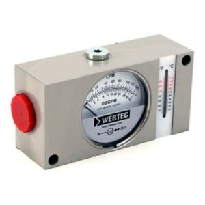 Hydraulic Flow Meter 6 000 Psi 0 Gpm To 48 Gpm Has Thermometer