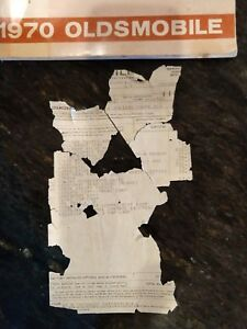 1970 Oldsmobile 442 Owners Manual With Original 4 4 2 Window Sticker And Vin