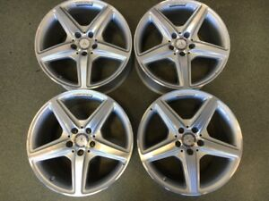 Set Of Mercedes Amg Cls400 Cls550 Factory 18 Wheels 85230 85231 Oem Front Rear