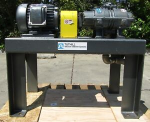 Tuthill 5hp Base Mounted Rotary Positive Displacement Vacuum Blower Unit