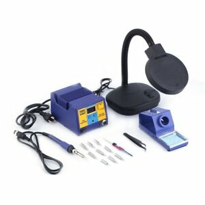 New Black Soldering Iron Station Complete Kit Safe Compact Us Free Shipping Oy