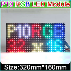 Rgb P10 Outdoor Led Matrix Display Module Pixel Panel 1 4scan 32x16 Dots Smd3535