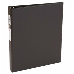 New Avery 1 Black Economy Round Ring Binders 12pk 03301 Free Shipping