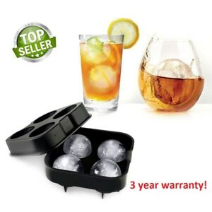 Whiskey Ice Cube Ball Maker Silicone Mold Sphere Mould Tray Round Bar