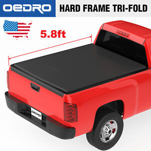 Soft Folding Tri fold Truck Bed Cover 5 8ft For 2014 2018 Chevy Silverado sierra