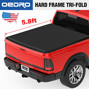 Taoautoparts 5 8 Bed Tri Fold Tonneau Cover Fit For 2009 2018 Dodge Ram 1500