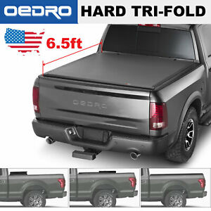 Oedro Tri fold Truck Bed Tonneau Cover For 2002 2018 Dodge Ram 6 5 Bed