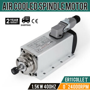Cnc 1 5kw Air Cooled Spindle Motor Er11 24000rpm Easy To Dismantle W square Edge