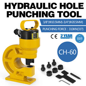 Ch 60 Hydraulic Hole Punching Tool Puncher 31t Iron Plate Tungsten Steel 3 4