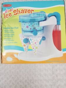 Back To Basics Ice Shaver Machine Snow Cone Maker Dual Shaver