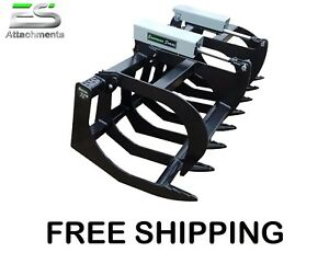 Es 72 Hd Grapple Bucket New Skid Steer Quick Attach Brush Grapple Free Shipping