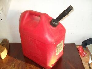 Blitz 5 Gallon Red Gas Can Used