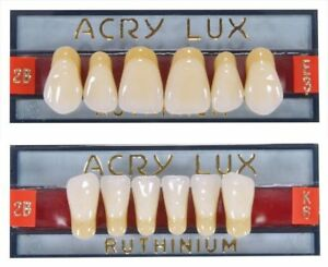Acry Lux Dental Artificial Acrylic Finest Ruthinium 28 Teeth Full Set 4pcs