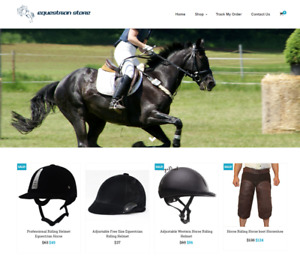 Equestrian Store Turnkey Website Business For Sale Profitable Dropshipping