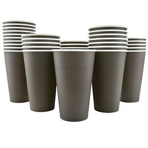 200 Pack Disposable Hot Paper 16oz Coffee Cups Mocha Brown cups Only New