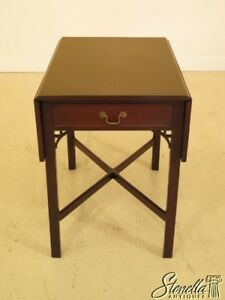 44961ec Kittinger Pembroke Chippendale T 204 Mahogany Table
