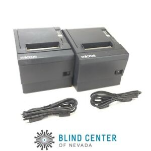 Lot Of 2 Epson M129c Tm t88iii Pos Thermal Printer Idn Interface W Usb Cables