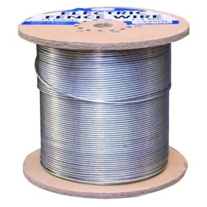 Heavy Duty 1 4 Mile 14 gauge Galvanized Electric Fence Wire Corrosion Resistant