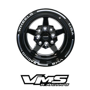 X4 13x9 Vms Racing Star 5 Spoke Black Silver Rims Wheels 4x100 4x114 Et0 For Vw