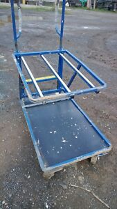 Tool Cart Rolling Order Stock Picker Picking Ladder Warehouse 6 Wheel 2 Tier Pa