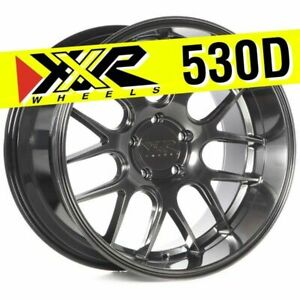 Xxr 530d 18x10 5 5x114 3 20 Chromium Black Wheels Set Of 4