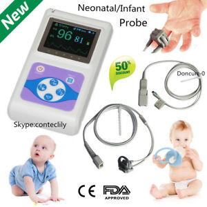 Ce Neonatal Infant Pediatric Kids Born Pulse Oximeter Spo2 Monitor Pc Sw Contec